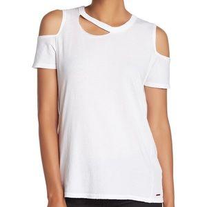 n:Philanthropy  Cold Shoulder Cut Out Tee Shirt Sm